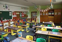 lớp học của trường tiểu học ở Đức