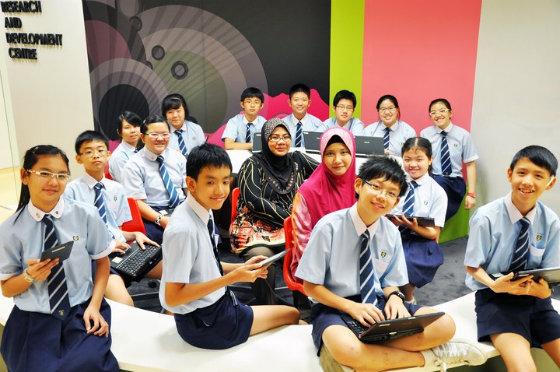 Học sinh trung học tại Singapore